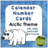 Calendar Number Cards Arctic Theme