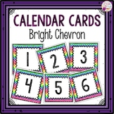 Dollar Deal! Calendar Number Cards-Bright Chevron
