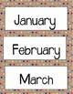 255 Calendar & Number Cards [Brown Paper & Sharpie]
