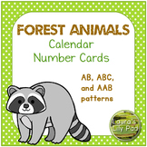 Calendar Number Cards Forest Animals Theme