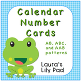 Calendar Number Cards Frog Pond Theme