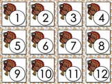 Calendar Number Cards Numbers 1-31 Turkey Fall Festival Thanksgiving November