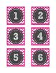 Calendar Number Cards - Pink Chevron