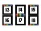 Calendar Number Cards- Rainbow Dots