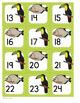 Calendar Number Cards Rainforest Animals Theme