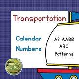 Calendar Number Cards Transportation Theme