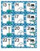 Calendar Number Cards Winter Theme