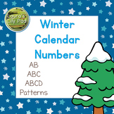 Calendar Number Cards Winter Theme