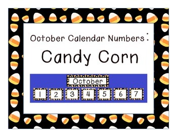 Calendar Number Inserts { October candy corn border }