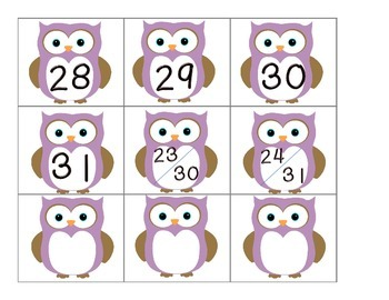 Calendar Number Inserts { owl themed }