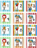 Calendar Number Squares Circus
