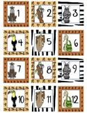Calendar Number  Squares Safari Theme