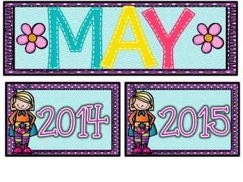 Calendar Number cards- May