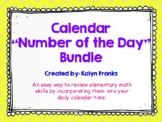 "Calendar ""Number of the Day"" Math Bundle"