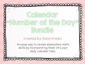 "Calendar ""Number of the Day"" Math Bundle - Mint, Blush & Gray"