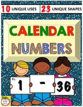 Calendar Numbers 1-36 / Number Labels for Hooks, Lockers,