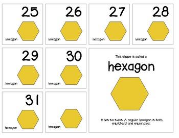 "Calendar Numbers (2.5"" x 2.5"") :: Featuring the HEXAGON shape"