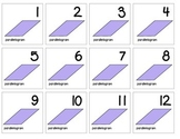 "Calendar Numbers (2.5"" x 2.5"") :: Featuring the PARALLELOGRAM shape"