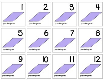 """Calendar Numbers (2.5"""" x 2.5"""") :: Featuring the PARALLELOGRAM shape"""
