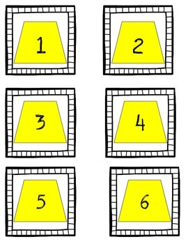 Calendar Numbers- 2-d and 3-d shapes