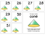 "Calendar Numbers (2.5"" x 2.5"") :: Featuring the CONE shape"