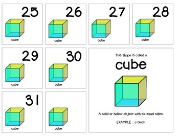 "Calendar Numbers (2.5"" x 2.5"") :: Featuring the CUBE shape"