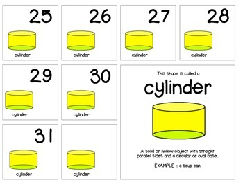 "Calendar Numbers (2.5"" x 2.5"") :: Featuring the CYLINDER shape"