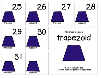 "Calendar Numbers (2.5"" x 2.5"") :: Featuring the TRAPEZOID shape"