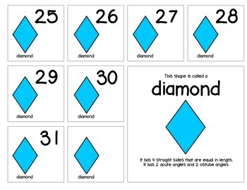 """Calendar Numbers (2.5"""" x 2.5"""") :: Featuring a group of four shapes"""