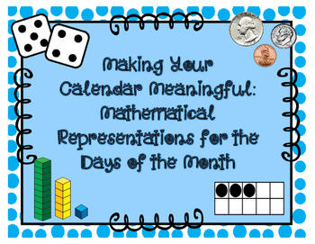 Calendar Cards - Math Representations