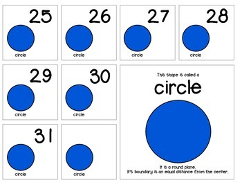 """Calendar Numbers (2.5"""" x 2.5"""") :: Featuring the CIRCLE shape"""