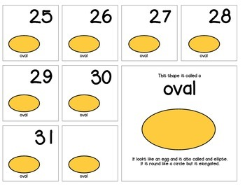 "Calendar Numbers (2.5"" x 2.5"") :: Featuring the OVAL shape"