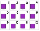 "Calendar Numbers (2.5"" x 2.5"") :: Featuring the SQUARE shape"