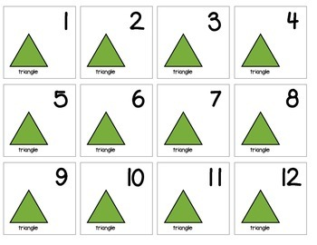 """Calendar Numbers (2.5"""" x 2.5"""") :: Featuring the TRIANGLE shape"""