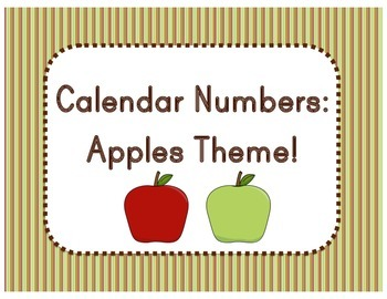 Calendar Numbers - Apples Theme