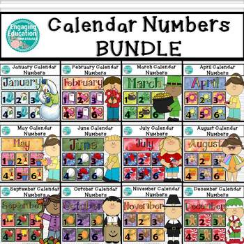 Calendar Numbers BUNDLE