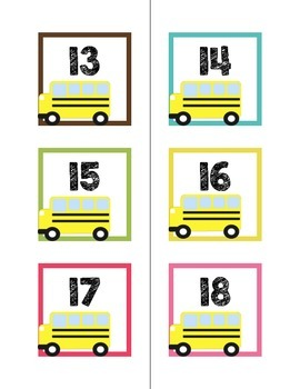 Calendar Numbers-Back to school