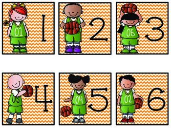 Calendar Numbers- Basketball