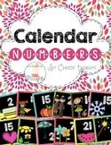 Calendar Numbers-Black