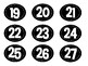 Calendar Numbers Black and White