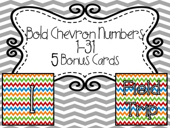 Calendar Numbers- Bold Chevron