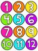 Calendar Numbers - Bright