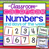 Bright, Rainbow Design Calendar Numbers