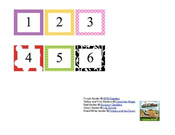 Calendar Numbers Cards