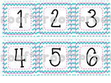 Calendar Numbers Chevron