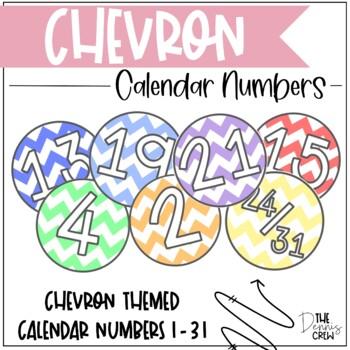 Calendar Numbers - Chevron