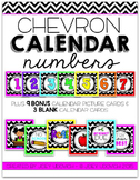 Calendar Numbers - Chevron Theme
