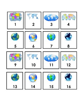 Calendar Numbers - Continents #2