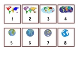 Calendar Numbers - Continents and Maps