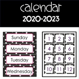 Calendar Numbers Days Months and Years through 2019-2023